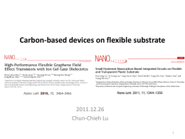 Carbon-based devices on flexible substrate