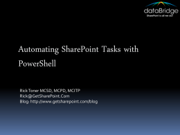 AutomatingSharePointTasksWithPowerShell