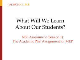 NSE Assessment Critical Thinking