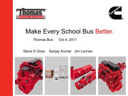 Make Every School Bus Better.