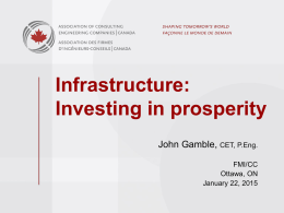 Infrastructure: Investing in prosperity