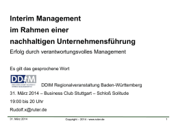 2014-03-31 DDIM – Interims Manager
