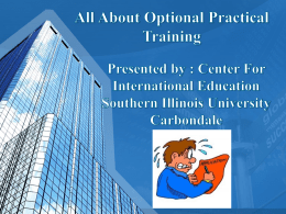 OPT Video Seminar - Southern Illinois University | Center for