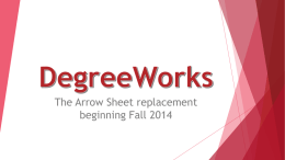 DegreeWorks - SUNY Oneonta