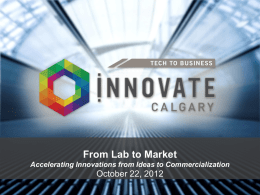 Innovate Calgary General Overview