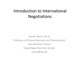 What is negotiations?