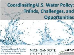 Coordinating US Water Policy: Trends, Challenges, and Opportunities