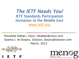 IETF Needs you