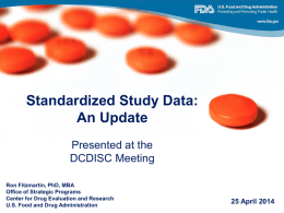CDER State of Data Standards