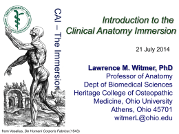 PPT - Ohio University College of Osteopathic Medicine