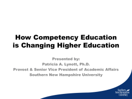 How Competency Education is Changing Higher