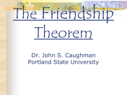 The Friendship Theorem - Portland State University