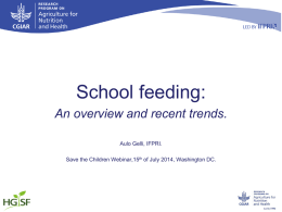 School Feeding Webinar Powerpoint