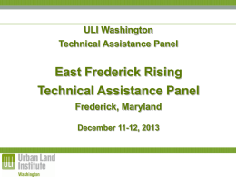East Frederick Rising TAP - ULI Washington