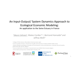 An Input-Output/System Dynamics approach to ecological