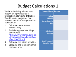 Budget Exercises