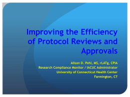 Improving Protocol Review and Approval Efficiency