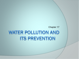 Ch 17. Water, pollution and its prevention