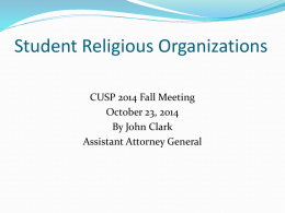 Student Religious Organizations - Washington State Board for