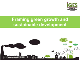 Green Growth and Contributions to Sustainable
