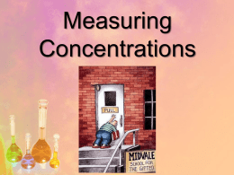 Concentrated - Day 1 Introduction to Chemistry and Measurement