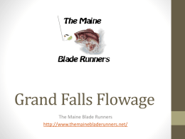 Grand Falls Flowage - The Maine Blade Runners