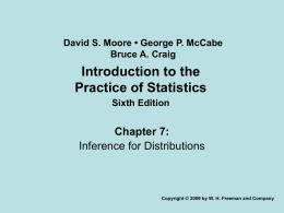PowerPoint Presentation - Introduction to the Practice of Statistics