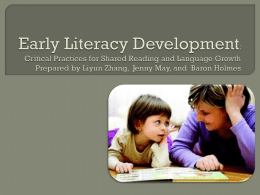 Addressing Disparities in Early Childhood Language and Literacy