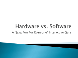 Hardware vs. Software Quiz