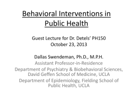 Powerpoint - UCLA School of Public Health