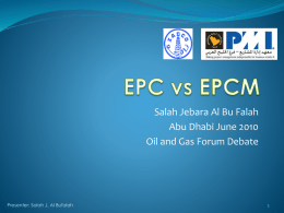 EPC vs EPCM - DMS Energy Forum: Debates