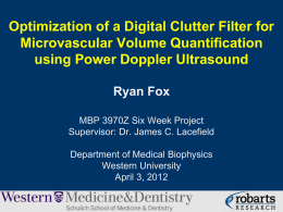2012 Digital Clutter Filter for Power Doppler Ultrasound