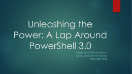 Unleashing the Power: A Lap Around PowerShell