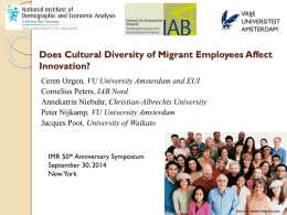 Does Cultural Diversity of Migrant Employees Affect Innovation?