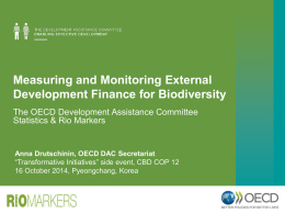 Measuring and Monitoring External Development Finance for