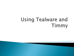 Using Tealware for SAM Projects