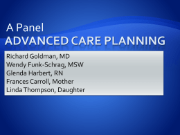 Advanced Care Planning - ESRD Network of Texas