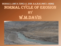 NORMAL CYCLE OF EROSION BY W.M.Davis