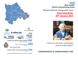 - NHS West London Clinical Commissioning Group
