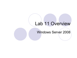 Lab 11 - Personal Web Pages