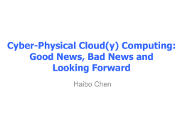 Cyber-physical Cloud Computing