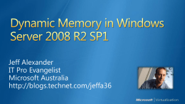 Dynamic Memory Architecture & Concepts