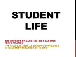 Student Life (powerpoint)