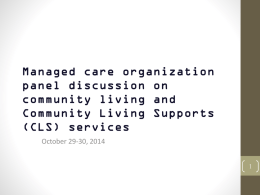 (CLS) services - Tennessee Community Organizations