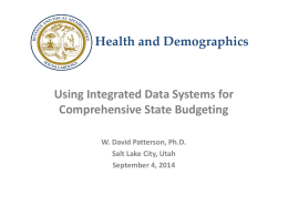 (Integrated Data Systems). - National Association of State Budget