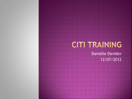 CITI Training