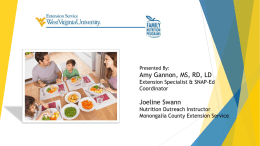 Family Nutrition Planning Overview