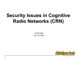 Security Issues in Cognitive Radio Networks (CRN)