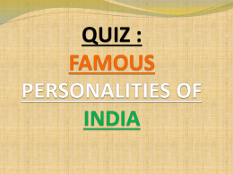 quiz : famous personalities of india