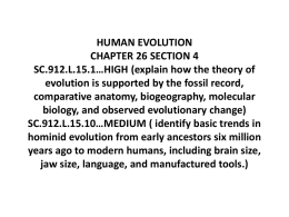 human evolution and the origin of life